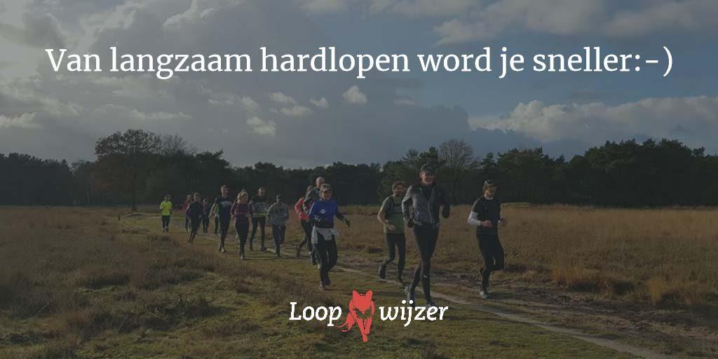 Van langzaam hardlopen word je sneller